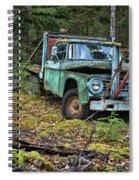 Abandoned Alaskan Logging Truck Spiral Notebook