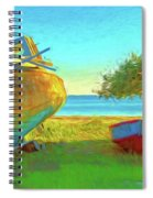 Abandoned Boats On Choctawhatchee Bay Spiral Notebook