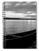 Abandoned Canoe Floating On Water Spiral Notebook
