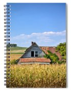 Abandoned Corn Field House Spiral Notebook