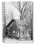 Abandoned Farmhouse In The Michigan Countryside Spiral Notebook