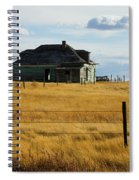Abandoned Homestead Saskatchewan Spiral Notebook