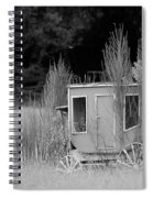 Abandoned In The Field Black And White Spiral Notebook