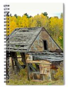 Abandoned Mine In Autumn Spiral Notebook