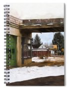 Abandoned Service Station Painterly Impressions Spiral Notebook