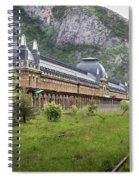 Abandoned Side Of The Canfranc International Railway Station Spiral Notebook