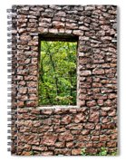 Abandoned Stone Wall With Window Spiral Notebook