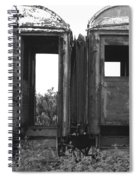 Abandoned Train Cars B Spiral Notebook