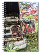 Abandoned Truck With Spray Paint Spiral Notebook