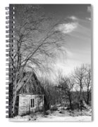 Abandoned Wooden Shack In Winter Spiral Notebook