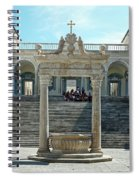 Abbey Of Montecassino Courtyard Spiral Notebook