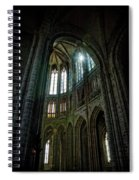 Abbey With Heavenly Light Spiral Notebook