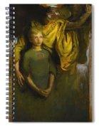 Abbott Handerson Thayer 1849 - 1921 Boy And Angel Spiral Notebook
