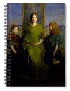 Abbott Handerson Thayer - Mother And Children Spiral Notebook