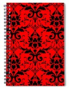 Abby Damask In Black Pattern 02-p0113 Spiral Notebook