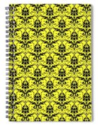 Abby Damask In Black Pattern 05-p0113 Spiral Notebook