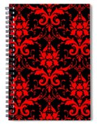 Abby Damask With A Black Background 02-p0113 Spiral Notebook