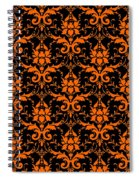 Abby Damask With A Black Background 03-p0113 Spiral Notebook