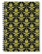 Abby Damask With A Black Background 05-p0113 Spiral Notebook