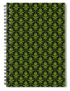 Abby Damask With A Black Background 09-p0113 Spiral Notebook
