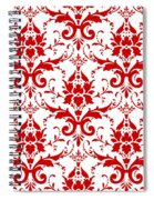 Abby Damask With A White Background 02-p0113 Spiral Notebook