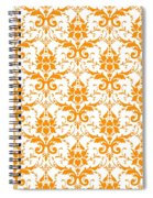 Abby Damask With A White Background 03-p0113 Spiral Notebook