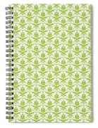 Abby Damask With A White Background 09-p0113 Spiral Notebook