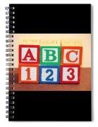 Abc 123 Spiral Notebook
