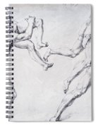 Abduction Of A Woman Rape Of The Sabine Women 1495 Spiral Notebook
