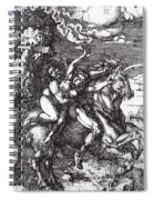 Abduction Of Proserpine On A Unicorn 1516 Spiral Notebook