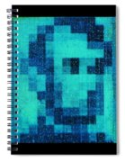 Abe In Aqua Spiral Notebook