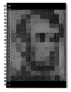 Abe In Black And White Spiral Notebook