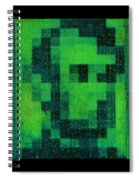Abe In Green Spiral Notebook