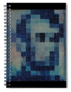 Abe In Light Blue Spiral Notebook