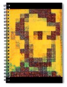 Abe In Yellow Spiral Notebook