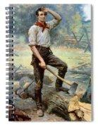Abe Lincoln The Rail Splitter  Spiral Notebook