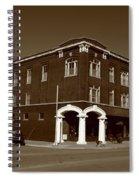 Abilene Kansas - Spruce And 3rd Sepia Spiral Notebook