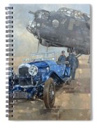 Able Mable And The Blue Lagonda  Spiral Notebook