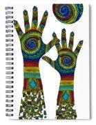 Aboriginal Hands Gold Transparent Background Spiral Notebook