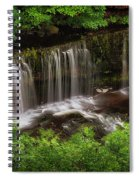 Above The Sgwd Isaf Clun-gwyn Waterfall Spiral Notebook