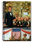 Abraham Lincoln And Stephen A Douglas Debating At Charleston Spiral Notebook