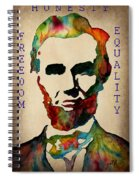 Abraham Lincoln Leader Qualities Spiral Notebook