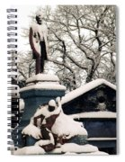 Abraham Lincoln Memorial Scotland Winter Spiral Notebook