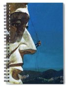 Abraham Lincoln's Nose On The Mount Rushmore National Memorial  Spiral Notebook