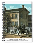 Abraham Lincoln's Return Home Spiral Notebook