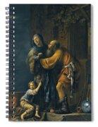 Abraham Pleading With Sarah On Behalf Of Hagar Spiral Notebook