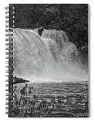 Abrams Falls Cades Cove Tn Black And White Spiral Notebook