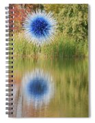 Abstact Sphere Over Water Spiral Notebook