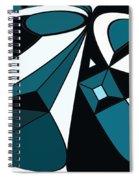 Abstrac7-30-09-a Spiral Notebook