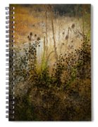 Abstract -  Burning Bush Spiral Notebook